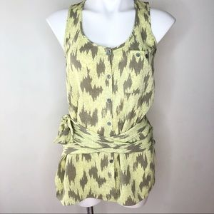 Rachel Roy Animal Melinda Tunic Small Tie Waist